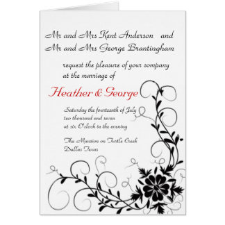 gone floral wedding invite card