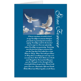 Gone Forever Greeting Card