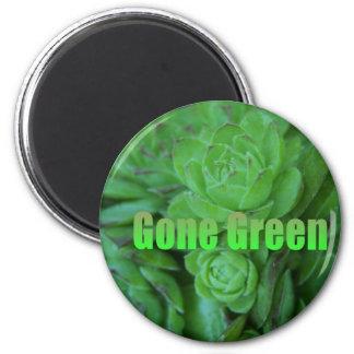Gone Green 1 6 Cm Round Magnet