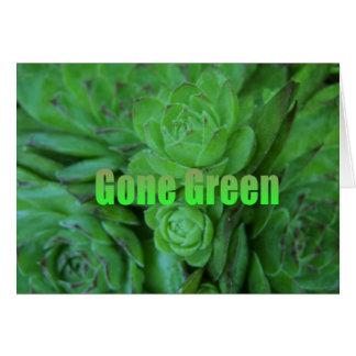 Gone Green 1 Greeting Card