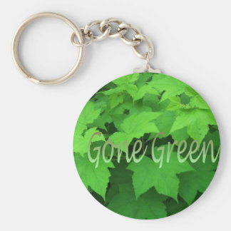 Gone Green 2 Basic Round Button Key Ring