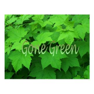 Gone Green 2 Postcard
