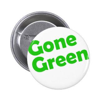 gone green 6 cm round badge