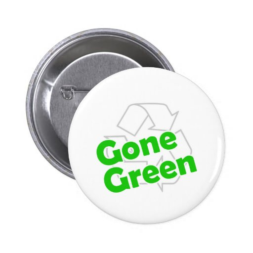 gone green pinback buttons