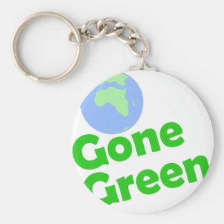gone green basic round button key ring