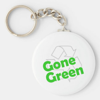 gone green basic round button key ring