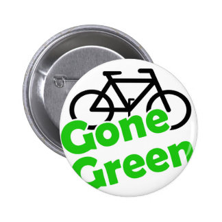 gone green bicycle 6 cm round badge