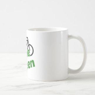 gone green bicycle mug