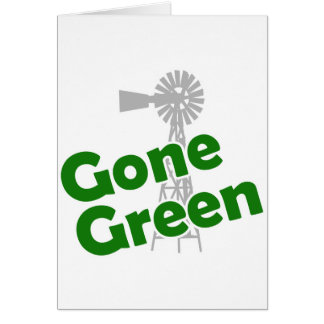 gone green greeting card