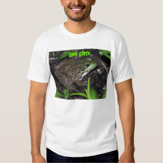 gone green -frog tee shirts