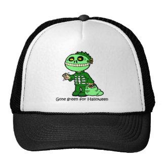 gone green halloween trucker hat