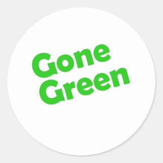 gone green round sticker