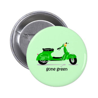 gone green scooter 6 cm round badge