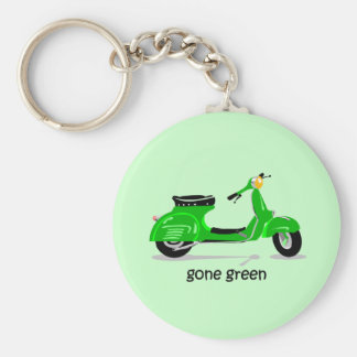 gone green scooter basic round button key ring