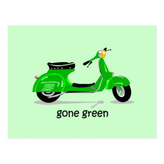 gone green scooter post cards