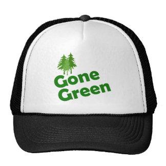 gone green trees trucker hat