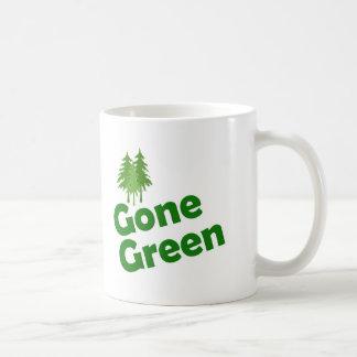 gone green trees coffee mug
