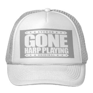 GONE HARP PLAYING - I Love Stringed Instruments Cap