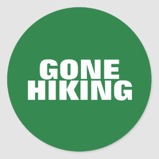 Gone Hiking Sticker