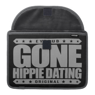 GONE HIPPIE DATING - Peace and Love Subculture MacBook Pro Sleeve