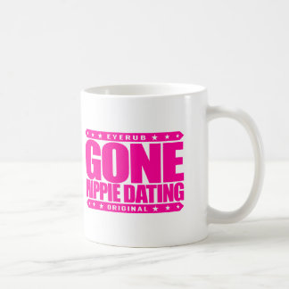 GONE HIPPIE DATING - Peace and Love Subculture Basic White Mug
