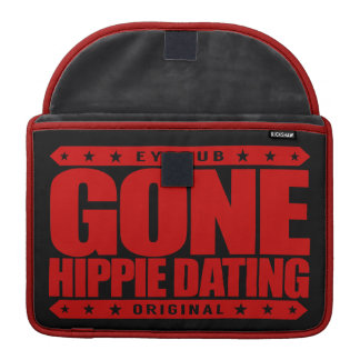 GONE HIPPIE DATING - Peace and Love Subculture Sleeve For MacBooks