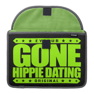 GONE HIPPIE DATING - Peace and Love Subculture Sleeves For MacBook Pro