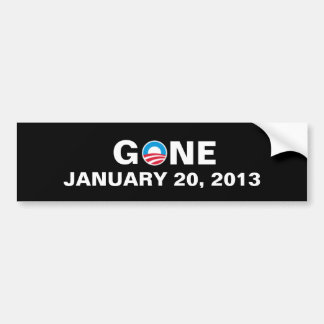 GONE JANUARY 20, 2013 BUMPER STICKER