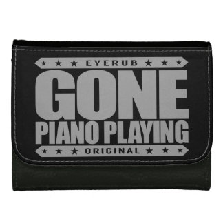 GONE PIANO PLAYING - I Am a Child Prodigy Pianist Leather Wallets