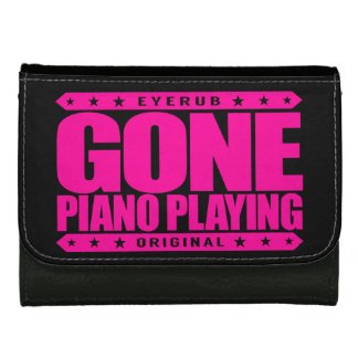 GONE PIANO PLAYING - I Am a Child Prodigy Pianist Wallet For Women
