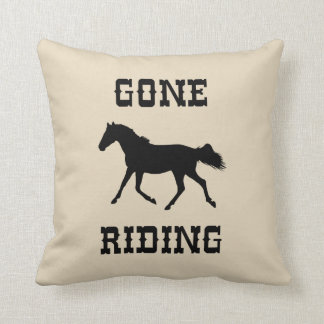 Gone Riding (Horse) Farmhouse Style Throw Pillow
