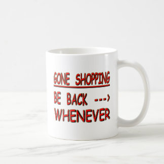 gone shopping coffee mug