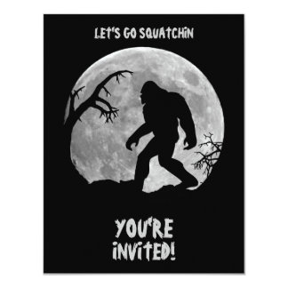 Gone Squatchin 11 Cm X 14 Cm Invitation Card