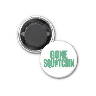 Gone Squatchin 3 Cm Round Magnet