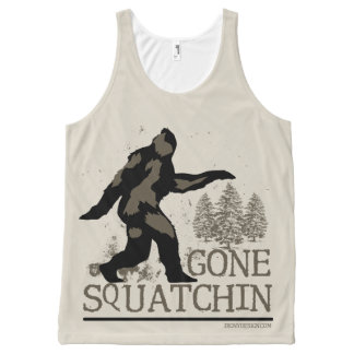 Gone Squatchin All-Over Print Tank Top