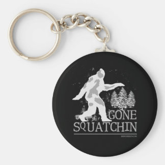 Gone Squatchin Basic Round Button Key Ring