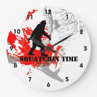 Gone Squatchin Bigfoot in the woods Wallclock