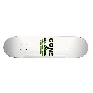 Gone Squatchin Bigfoot In Woods 20 Cm Skateboard Deck