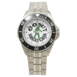 Gone Squatchin  bigfoot logo Watch