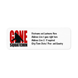 Gone Squatchin - Black and Red Return Address Label