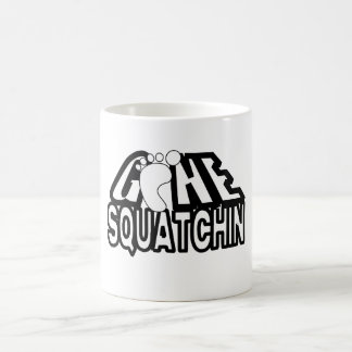 Gone Squatchin Black And White Logo Coffee Mug