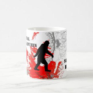 Gone Squatchin, black bigfoot Mugs