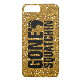 GONE SQUATCHIN BLACK GOLD GLITTER PRINTED iPhone 7 PLUS CASE