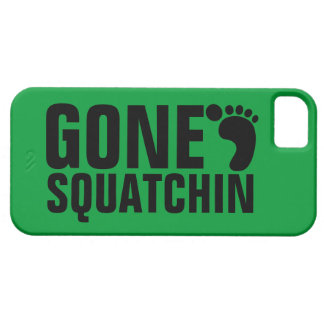 GONE SQUATCHIN BLACK GREEN BARELY THERE iPhone 5 CASE