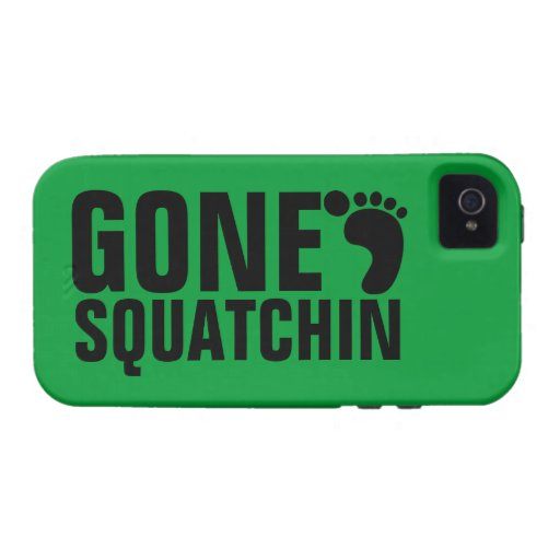GONE SQUATCHIN BLACK GREEN iPhone 4/4S COVER