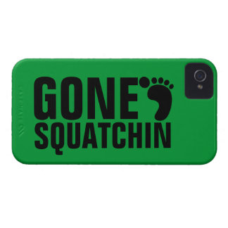 GONE SQUATCHIN BLACK GREEN iPhone 4 COVERS