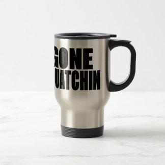Gone Squatchin Black Logo Stainless Steel Travel Mug
