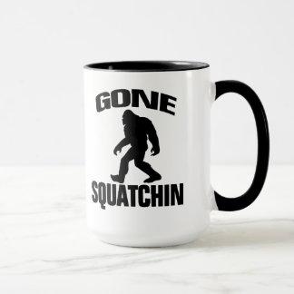 Gone Squatchin - Black Silhouette Mug