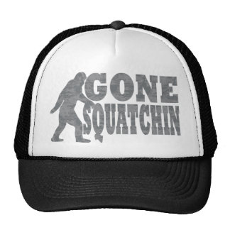 Gone squatchin black text & bigfoot cap