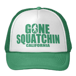 GONE SQUATCHIN California Sasquatch Hat (green)